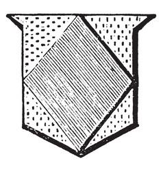 Lozenge is an angular figure vintage engraving vector
