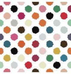 polka blots vector image vector image