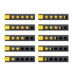 Rating stars buttons vector image vector image
