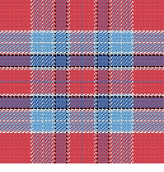 seamless pattern Scottish tartan red and blue vector image vector image