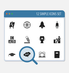 set of 12 editable science icons includes symbols vector image vector image