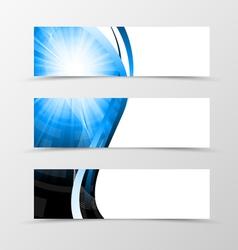 Set of header banner dynamic futuristic design vector