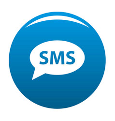 sms icon blue vector image