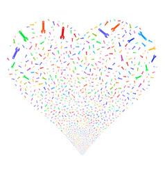spanner fireworks heart vector image vector image