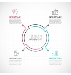 Thin line flat element for infographic vector image vector image