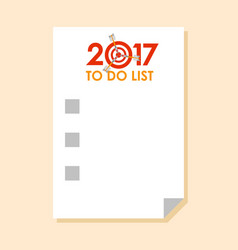 to do list 2017 with dart instead of zero vector image