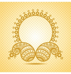 Traditional asian paisley design with copy-space vector