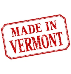 Vermont - made in red vintage isolated label vector