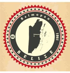 Vintage label-sticker cards of Belize vector image