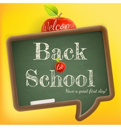 Welcome back to school EPS 10 vector image