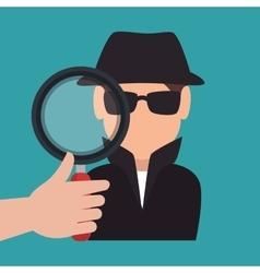 Avatar criminal hacker vector