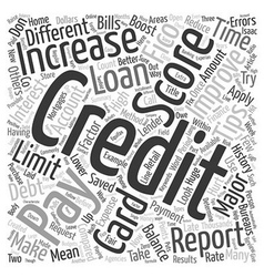 Tips to increase your credit score text background vector