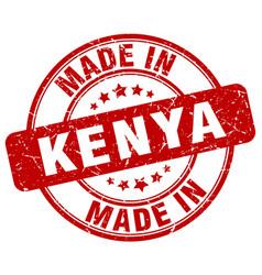 Made in kenya red grunge round stamp vector