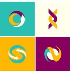 abstract arrow technology logos vector image