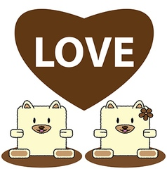 Dog in love vector image