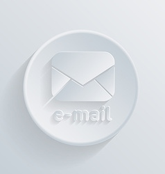 Circle icon with a shadow postal envelope vector