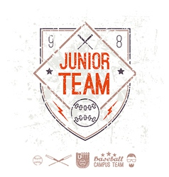 Emblem baseball junior college team vector