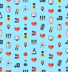 Medical seamless pattern flat simple colorful vector