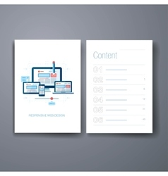 Modern responsive web design flat icon cards vector
