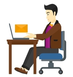 Man receiving email vector image