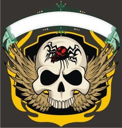 Ribbon skull vector