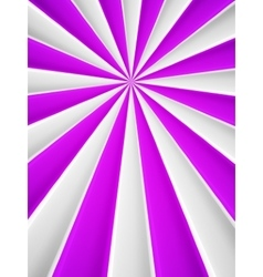 Violet and white abstract rays circle vector