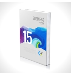 3d business design template cover brochure book vector