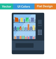 Flat design icon of food selling machine vector