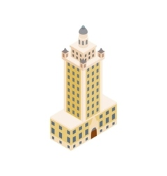 Freedom tower in miami icon isometric 3d style vector