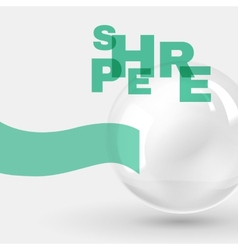 Abstract design with glass sphere vector image vector image