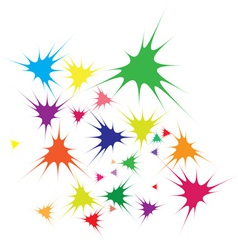abstract splatter background vector image vector image