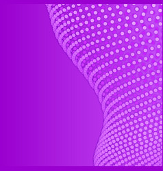 Array of violet paper cut circles vector