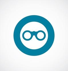 binoculars icon bold blue circle border vector image vector image