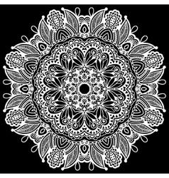 Black and white beautiful vintage circular pattern vector