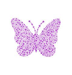 Butterfly in purple design vector