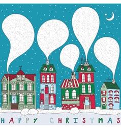 Christmas Township Card vector image