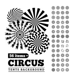 circus tents backgrounds or circular vector image vector image