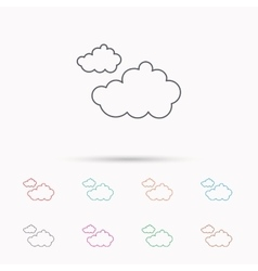 Cloudy icon overcast weather sign vector