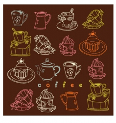 coffee sweets vector image