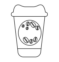 Figure coffee drink food icon vector