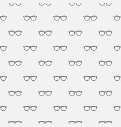 glasses seamless minimal pattern vector image