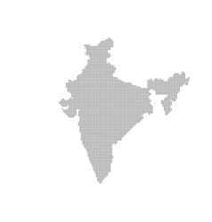Grey map india in the dot vector