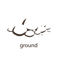 ground silhouette vector image vector image