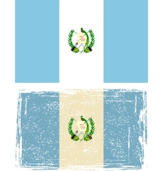 Guatemala grunge flag vector image vector image