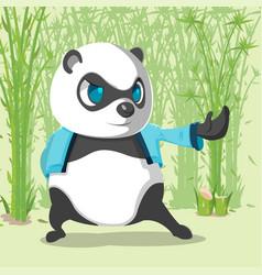 kungfu panda cute character design vector image vector image