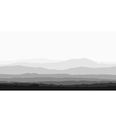 Landscape with huge mountain range vector image vector image