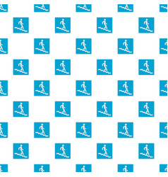 Man descending the stairway pattern seamless vector