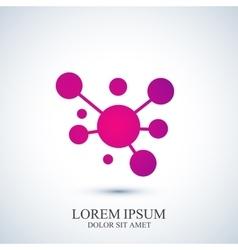 Modern logotype icon dna and molecule vector image vector image