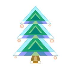 Original stylized fir tree vector