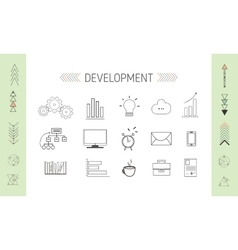 SEO and Developmrent Icons vector image